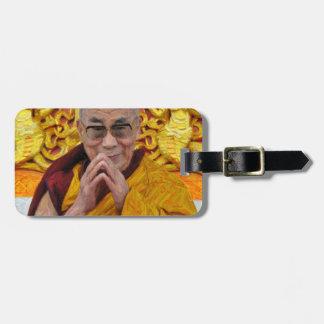 Méditation bouddhiste de bouddhisme de Dalai Lama Étiquette Pour Bagages