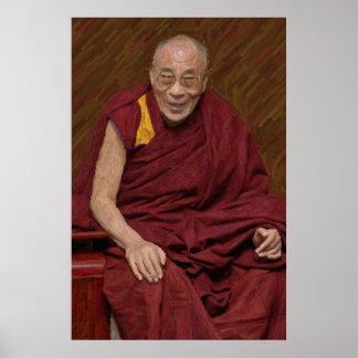 Méditation bouddhiste Yog de bouddhisme de Dalai Poster