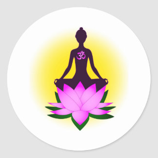 Méditation Sticker Rond