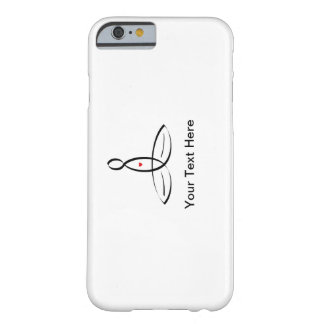 Meditator stylisé avec le texte personnalisable coque iPhone 6 barely there