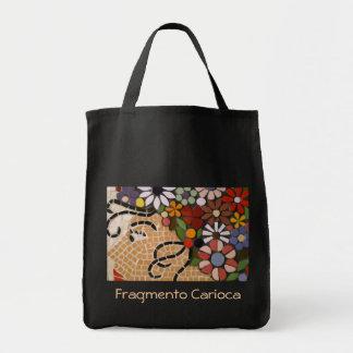 Méduse noire de fleur sac de toile