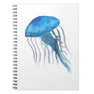 Méduses bleues carnet