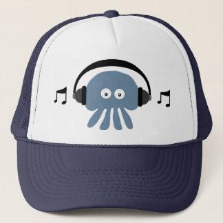Méduses bleues géniales avec le casquette du DJ