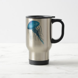 Méduses bleues mug de voyage