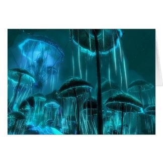 Méduses de champignon carte de vœux