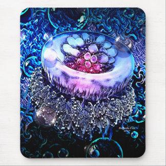 Méduses de mer profonde par l'oasis astucieuse tapis de souris