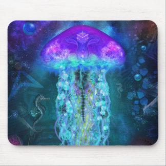 Méduses luminescentes tapis de souris