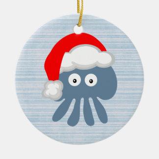Méduses mignonnes de Père Noël Ornement De Noël