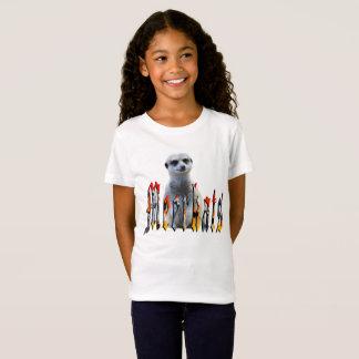 Meerkat avec le logo de Meerkats, T-shirt de blanc