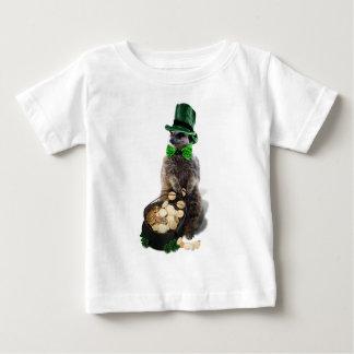 Meerkat chanceux avec le pot du jour de St Patrick T-shirt Pour Bébé