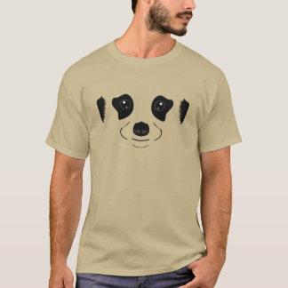 Meerkat font face à la silhouette t-shirt