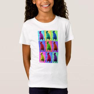 Meerkat recherchant le Multi-Panneau de Popart T-Shirt
