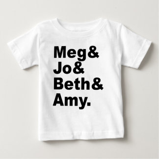 Mégohm et Jo et Beth et petite littérature de T-shirt Pour Bébé