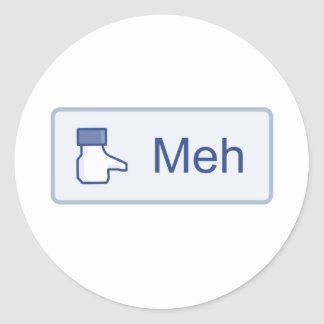Meh - Facebook Sticker Rond