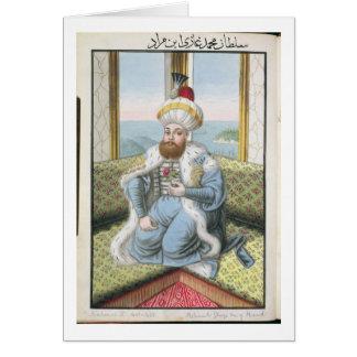 """Mehmed II (1432-81) a appelé """"Fatih"""", le Carte De Vœux"""