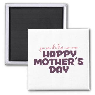 Meilleur aimant simple du jour de mère de maman