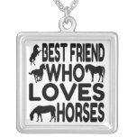 Meilleur ami d'amant de cheval collier personnalisé
