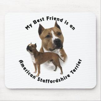 Meilleur ami le Staffordshire Terrier américain Tapis De Souris