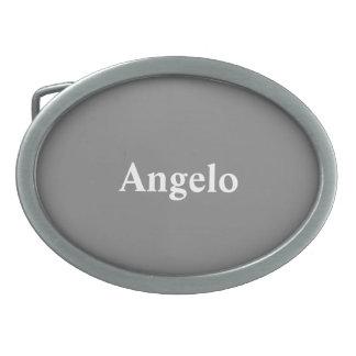 Meilleur coloré gris fait sur commande boucle de ceinture ovale