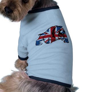 Meilleur de bouledogue britannique d'Union Jack T-shirts Pour Chien