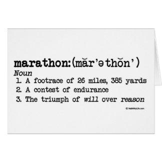 Meilleur de définition de marathon de la chance carte de vœux