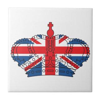 Meilleur des Anglais, couronne, Union Jack Petit Carreau Carré
