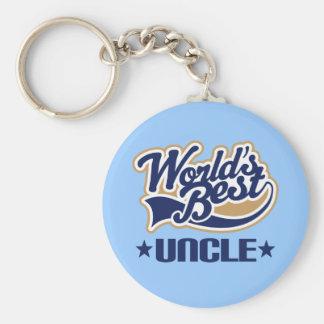 Meilleur oncle Keychain Gift des mondes Porte-clé Rond