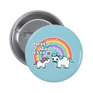 Meilleur papa mignon de licorne jamais badges