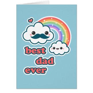 Meilleur papa mignon de nuage carte de vœux