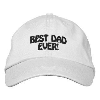 Meilleur papa personnalisé de casquette réglable