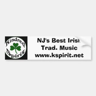 Meilleur traditionnel irlandais de NJ. Autocollant Autocollant De Voiture