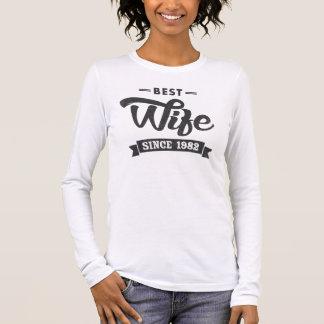 Meilleure épouse vintage depuis 1982 t-shirt à manches longues