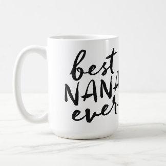 Meilleure Nana manuscrite jamais Mug Blanc