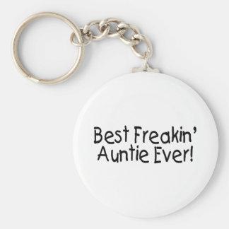 Meilleure tante Ever de Freakin Porte-clé Rond