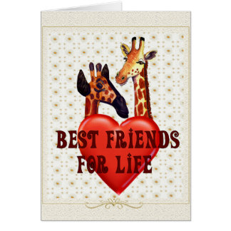 Meilleurs amis carte de vœux