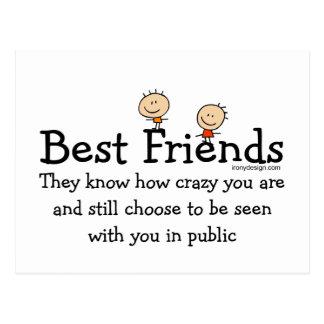 Meilleurs amis carte postale