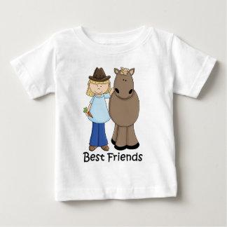Meilleurs amis - cow-girl et cheval t-shirt pour bébé
