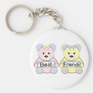 Meilleurs amis porte-clé rond