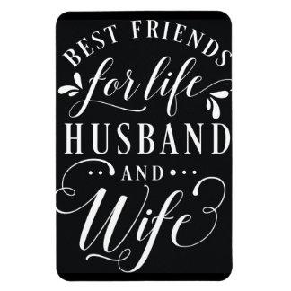 Meilleurs amis pour le mari de la vie et le magnet flexible