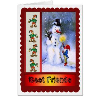 Meilleurs amis pour toujours et pour Noël ! Cartes
