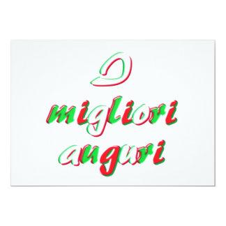 Meilleurs voeux carte carton d'invitation  12,7 cm x 17,78 cm