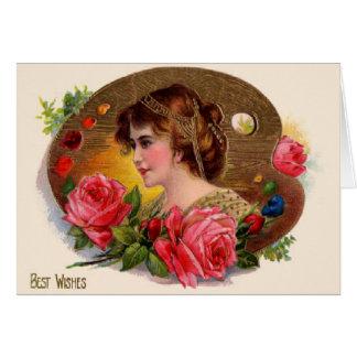 Meilleurs voeux carte de voeux victorienne vintage