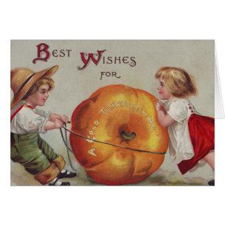 Meilleurs voeux pendant un bon thanksgiving carte de vœux