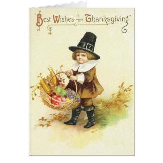 Meilleurs voeux pour le thanksgiving cartes