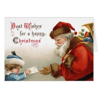 Meilleurs voeux pour une carte de Noël heureux