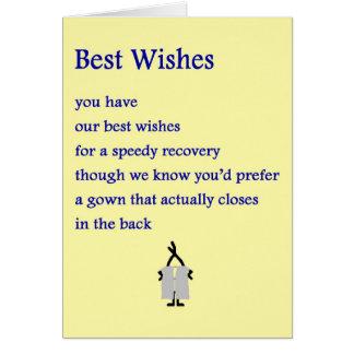 Meilleurs voeux - un drôle obtient le poème bon cartes