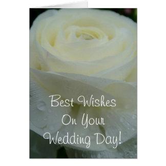 Meilleurs voeux votre jour du mariage cartes