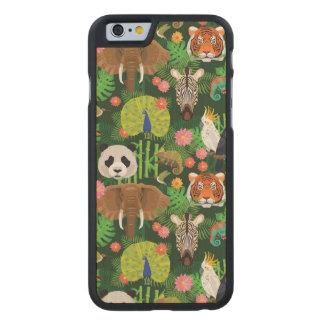 Mélange animal tropical coque carved® iPhone 6 en érable