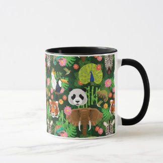 Mélange animal tropical mug