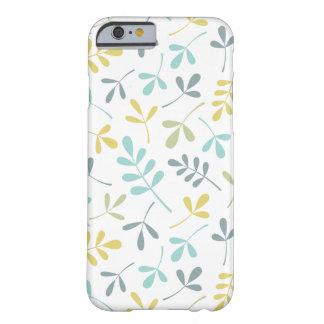 Mélange assorti de couleur de motif de feuille sur coque barely there iPhone 6